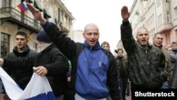 Moskvada millətçilərin yürüşü.