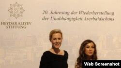 Первые леди Германии и Азербайджана - Беттина Вульф (слева) и Мехрибан Алиева, Берлин