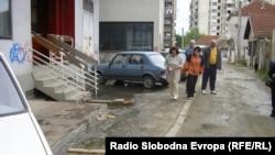 """Улицата """"Пелинска"""" во центарот на Куманово"""