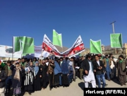 FILE: A protest rally in Badakhshan