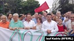 Антиправительственный митинг в Македонии