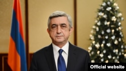 Armenia -- President Serzh Sarkissian delivers a New Year's address to the nation, Yerevan, 31Dec2013