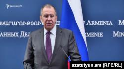 Министр иностранных дел России Сергей Лавров, Ереван, 11 ноября 2019 г.