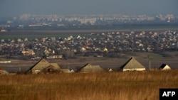 Село Варница, вид на г. Тирасполь, 21 марта 2014