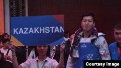 Казахстанский таэквондист Руслан Жапаров.
