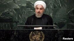 Իրանի նախագահ Հասան Ռոհանին ելույթ է ունենում ՄԱԿ-ի Կայուն զարգացման գագաթնաժողովում, Նյու Յորք, 26-ը սեպտեմբերի, 2015թ․
