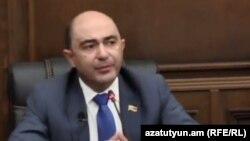 Глава фракции «Просвещенная Армения» Эдмон Марукян, Ереван, 24 июня 2020 г.