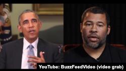 Скріншот з YouTube відео: Барак Обама та Джордан Піл