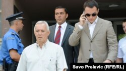 Miljan Mugoša sa advokatima, 23. jul 2012.