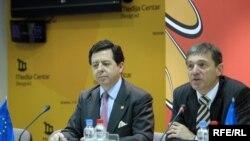 Španski ambasador Inigo de Palacio i šef delegacije EU Vincet Degert, Foto: Vesna Anđić