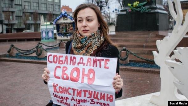 Anastasia Zotova, journalist, civil activist, and Dadin's wife