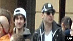 Closed-circuit video images of the suspected Boston bombers -- Dzhokhar Tsarnaev (left) and his brother Tamerlan -- shortly before the city's annual marathon was attacked.