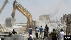 آواربرداری از ویرانههای غزه در روز پنجشنبه
