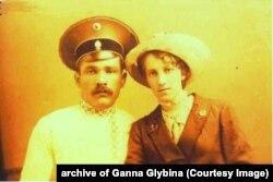 Шиманський Юхим та Кирпенко Ганна після весілля у 1914 році