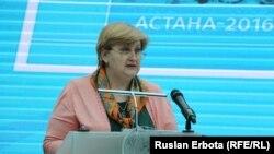 Наталья Калашникова , директор республиканского государственного учреждения «Общественное согласие» при президенте Казахстана. Астана, 30 марта 2016 года.