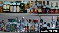 Казанда спиртлы эчемлекләр киштәсе