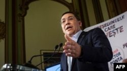Romanian Prime Minister and presidential candidate Victor Ponta