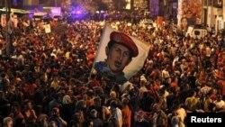Гирдиҳамоии тарафдорони Чавес дар Каракас дар пайи эълони марги ӯ