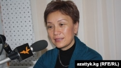 Deputy Minister of Social Protection Gulnara Derbisheva visited RFE/RL's Bishkek bureau in January.