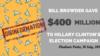 «400 миллионов долларов для Хиллари Клинтон»