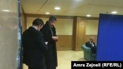 Sleva nadesno: ambasador Britanije, Nemačke i SAD Ruairi O'Connell, Christian Heldt i Greg Delawie u Skupštini Kosova
