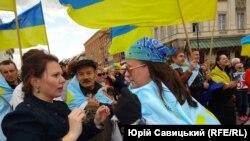 Варшава. Митинг в поддержку крымских татар
