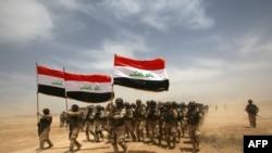 جنود عراقيون خلال تدريبات عسكرية