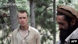 U.S. Army Sgt. Bowe Bergdahl in a Taliban video shortly after he was captured in 2009