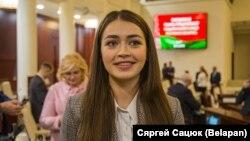 Belarus parlamentinin deputatı Mariya Vasileviç. 2019