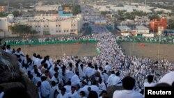 Паломники в Саудовской Аравии. Иллюстративное фото
