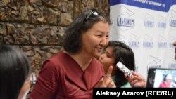 """Ардақ Жылысбаева, """"Шырғалаң"""" фильмінің сценарий авторы. Алматы, 1 тамыз 2018 жыл."""