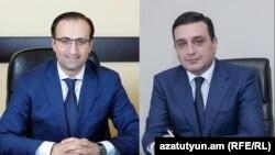Министр здравоохранения Арсен Торосян (слева) и ректор ЕГМУ Армен Мурадян