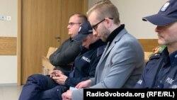 Міхал Прокопович (у сірому піджаку) на засіданні суду, Краків, 14 січня 2019 року