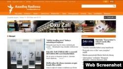Webfaqja e shërbimit azerbejxhanas e Radios Evropa e Lirë