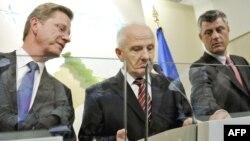 Guido Vestervelle, Fatmir Sejdiu dhe Hashim Thaçi
