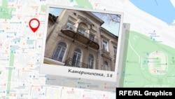 Прибутковий будинок Распопова на Катерининській, 18 має форму подвійного колодязя