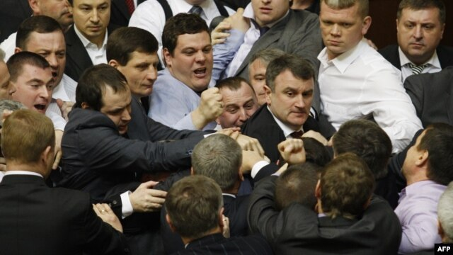 A scene from the fighting on March 19, fresh off a parliamentary recess.