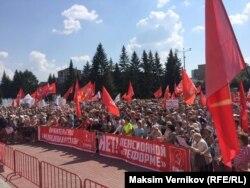 Митинг против повышения пенсионного возраста 28 июля в Екатеринбурге