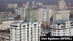 Бишкек шаарындагы жаңы курулган үйлөр