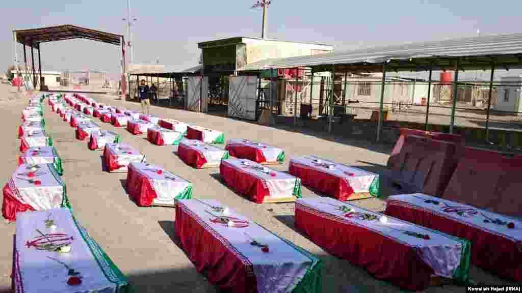 شلمچه مرز ایران و عراق؛ بازگشت بقایای سربازان ایرانی