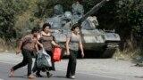 Грузинские беженцы, 16 августа 2008
