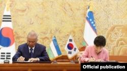 Президент Каримов Кореяга бир неча маротаба сафар қилган.