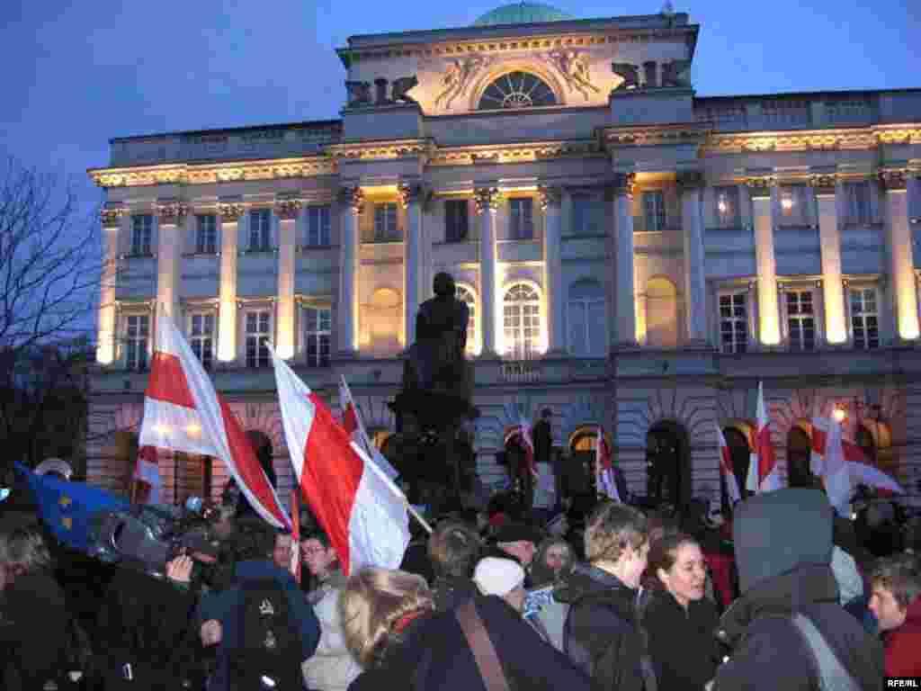Сьвяткаваньне Дня Волі ў Варшаве, 25 сакавіка 2009 году