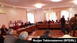 Бишкектеги оппозициячыларды колдоо жыйыны. 25-январь, 2017-жыл.