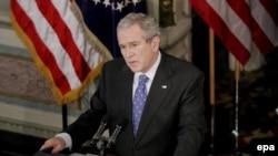 رییس جمهوری آمریکا می گوید در جهت تعیین راهبر جدید درعراق پیش رفت خوبی داشته است