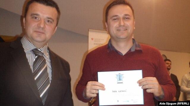 Ivan Katavić sa priznanjem od UNICEF-a