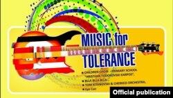 Концерт Музика за толеранција во Скопје, постер.