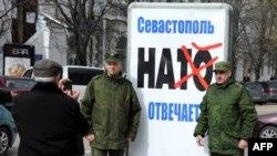 Ukraine -- NATO əleyhinə aksiya, Sevastopol, March 11, 2014