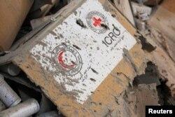 Остатки гуманитарной помощи из уничтоженного 19 сентября конвоя ООН