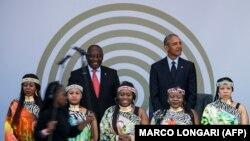 Барак Обама в Йоханнесбурге, 17 июля 2018 года